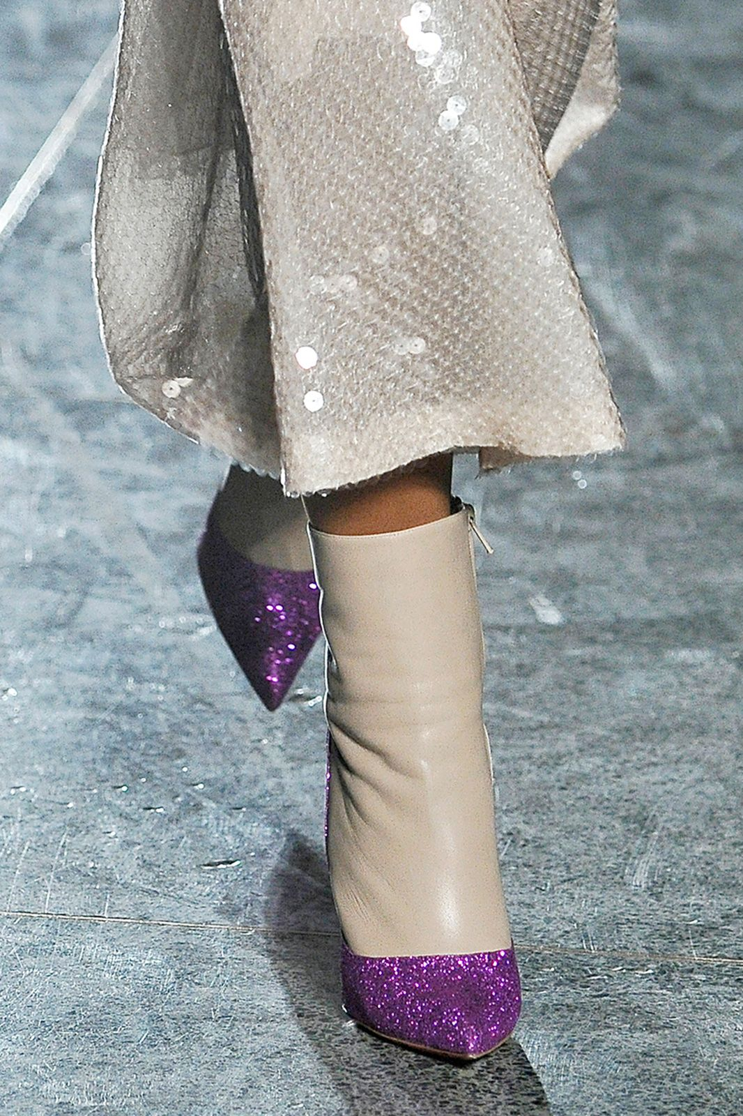 Glitter seemed to be a recurring theme on the runways, and for the cautionary magpies, this Jonathan Saunders sparkle-toed version is perfect.
