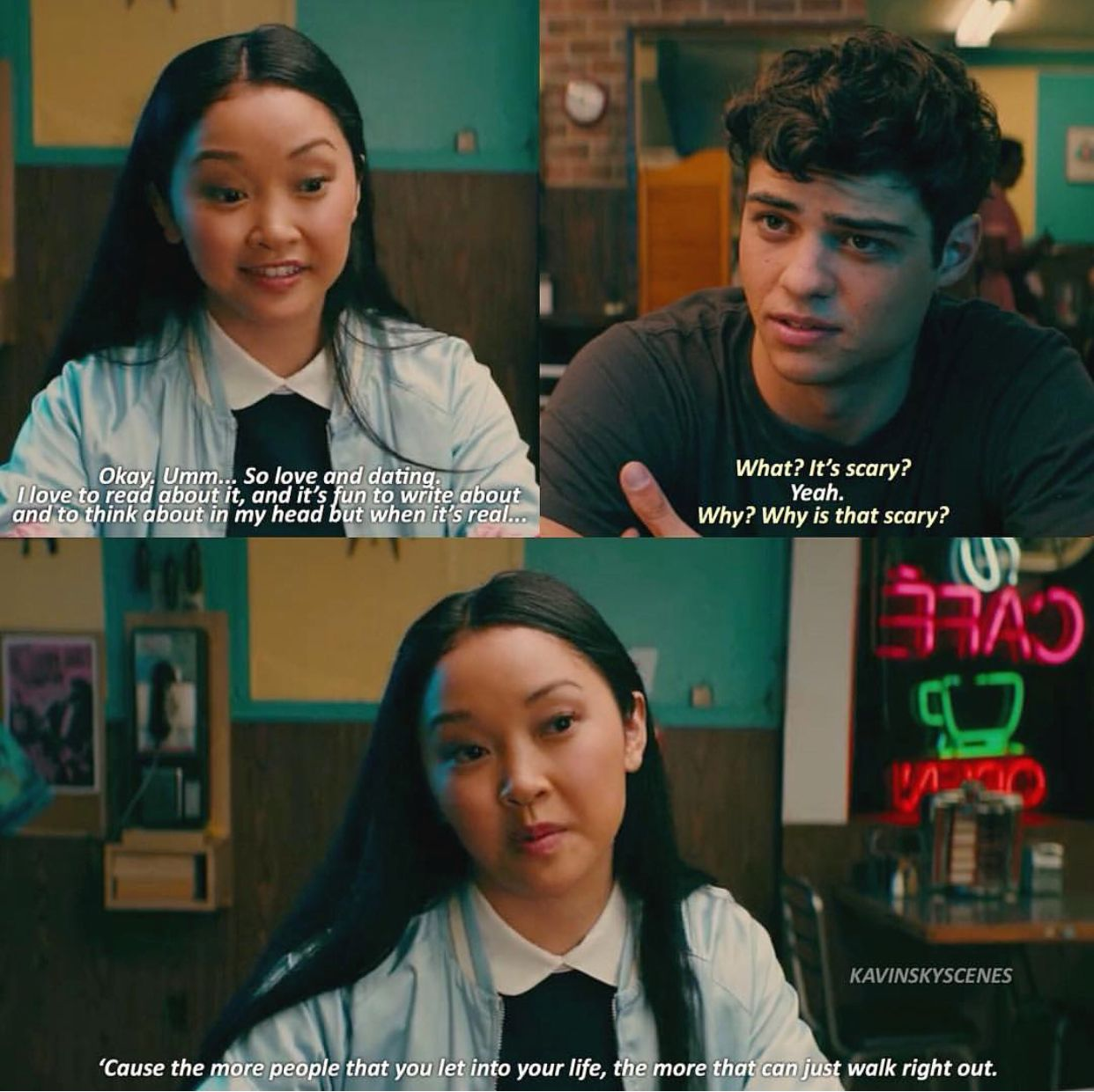 Lara Jean Peter To All The Boys I Ve Loved Before Romantic Movie Quotes Favorite Movie Quotes Best Movie Quotes
