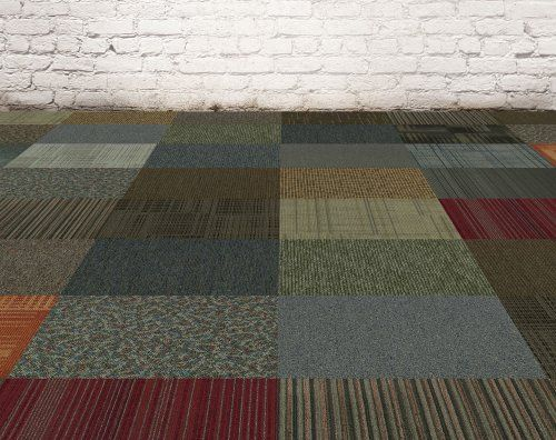 Assorted Carpet Tile 24 X 24 48sqft 12 Per Box Peel And Stick
