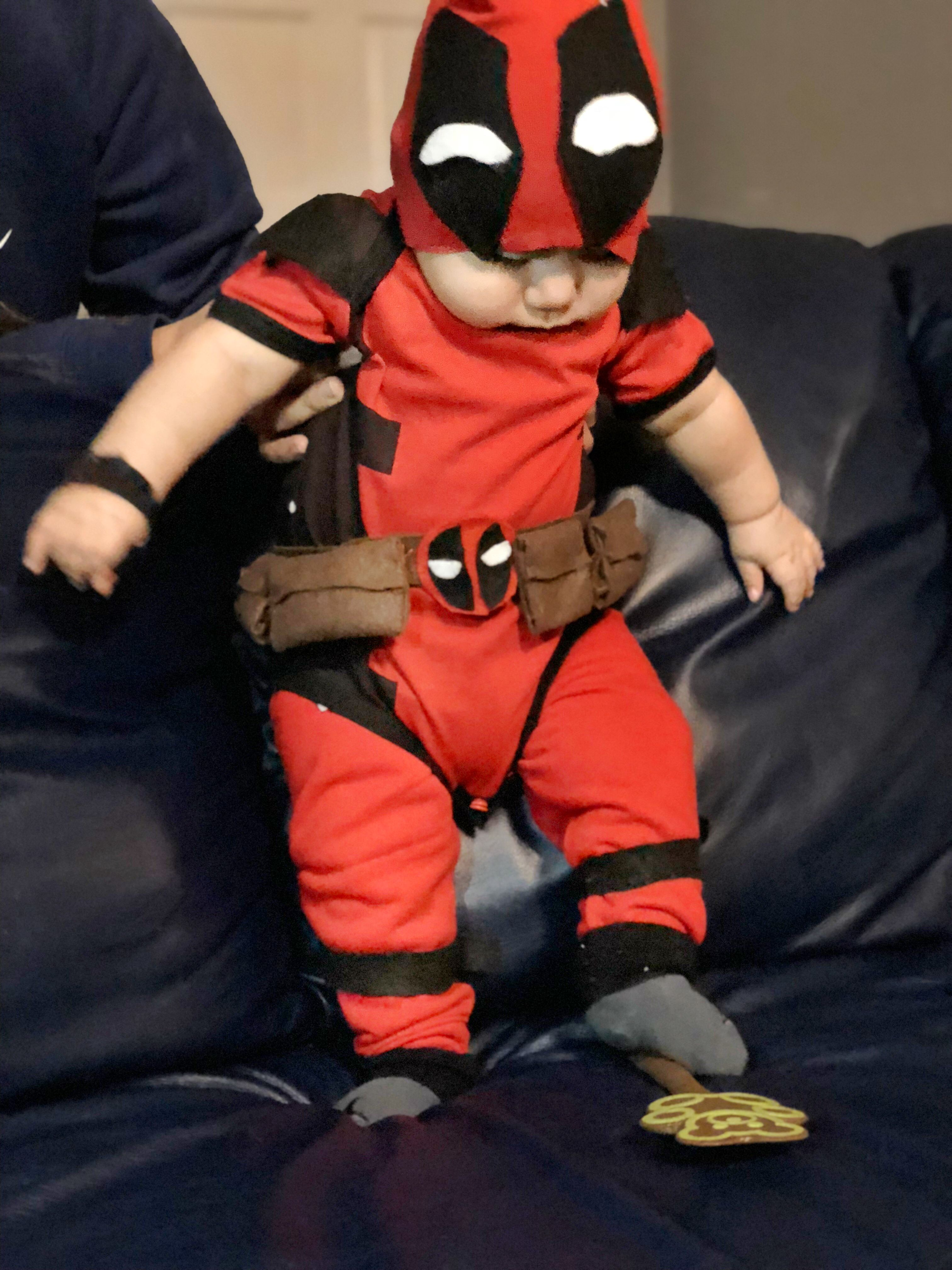 Baby Deadpool Deadpool Outfit Deadpool Costume Baby Costumes