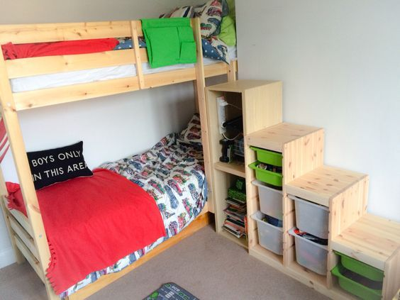 Ikea Bunk Bed Stairs Hack Ikea Trofast Steps With Ikea
