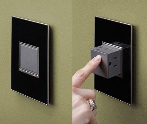 La prise de courant Pop-Out par Adorne vous permet de masquer une - prise de courant dans salle de bain