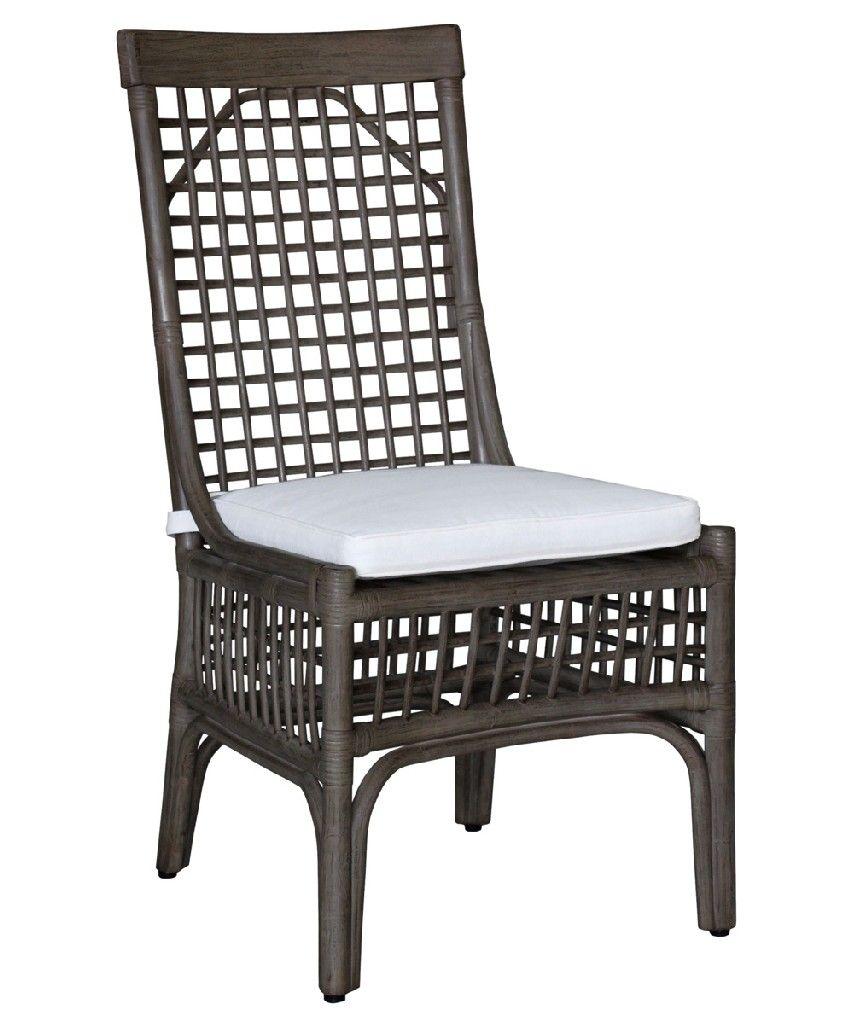 Panama Jack Millbrook Side Chair With Cushion In Kubu Grey