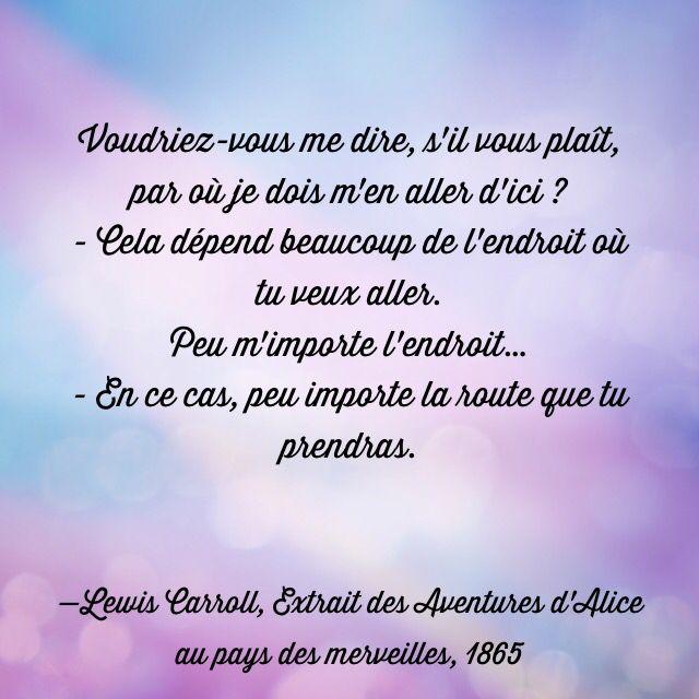Lewis Carroll Extrait Des Aventures D Alice Au Pays Des