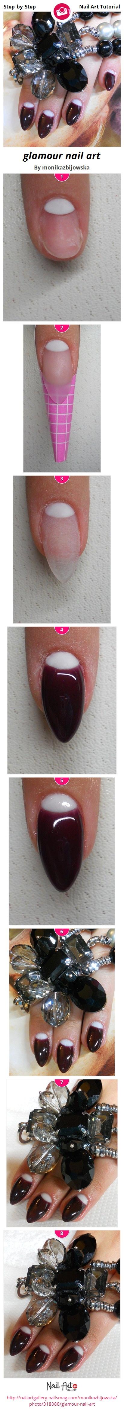 glamour nail art by monikazbijowska - Nail Art Gallery Step-by-Step ...