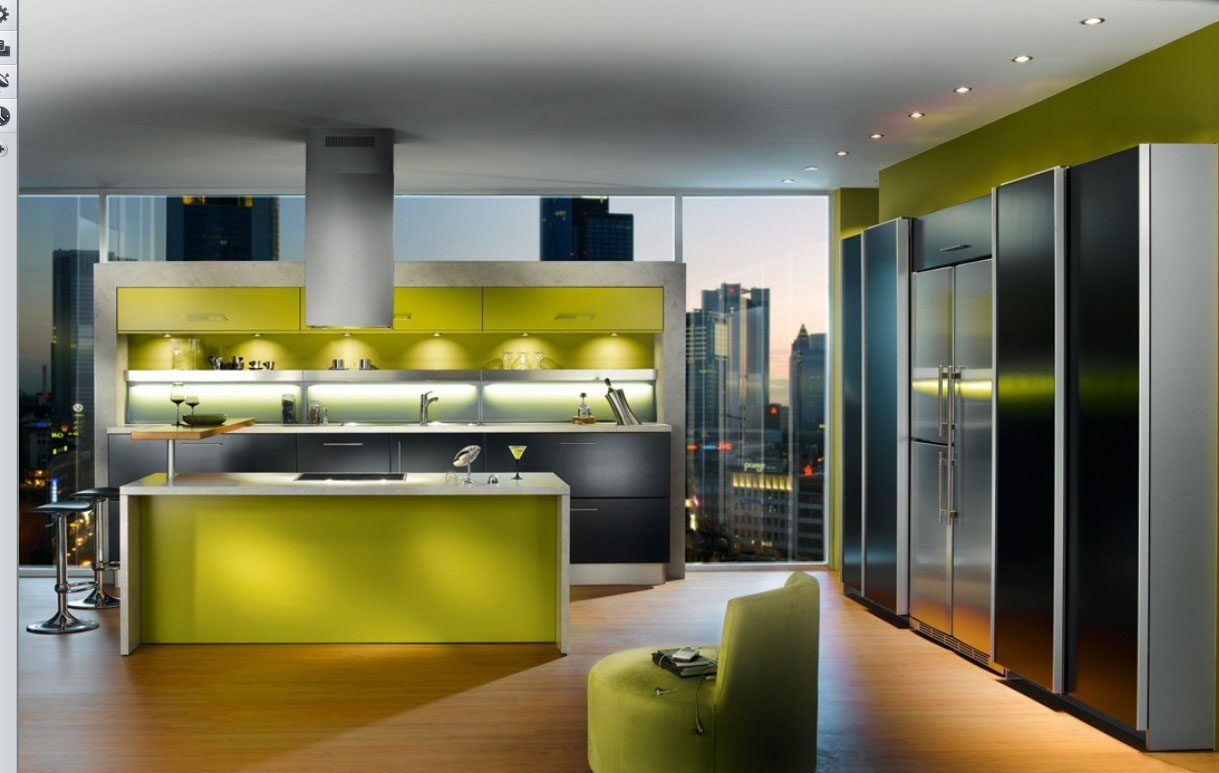 Resultado de imagen para cocinas con gabinetes verdes y marmol negro ...
