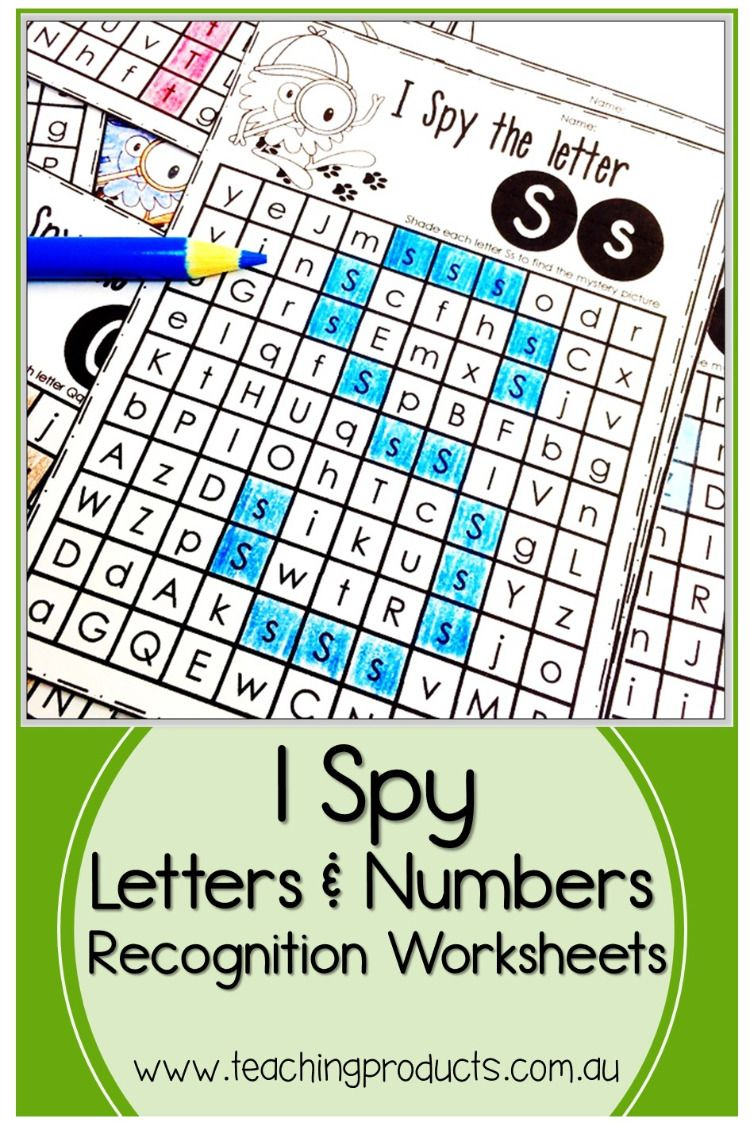 I Spy Letters And Numbers Number Recognition Worksheets Number Recognition Activities Learning Worksheets [ 1125 x 750 Pixel ]