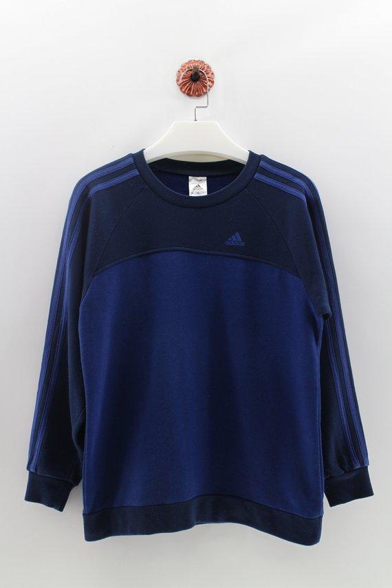 e06052830abc ADIDAS THREE STRIPES Sweatshirt Pullover Unisex Medium Vintage Adidas  Sweater Jumper 90s Embroidery