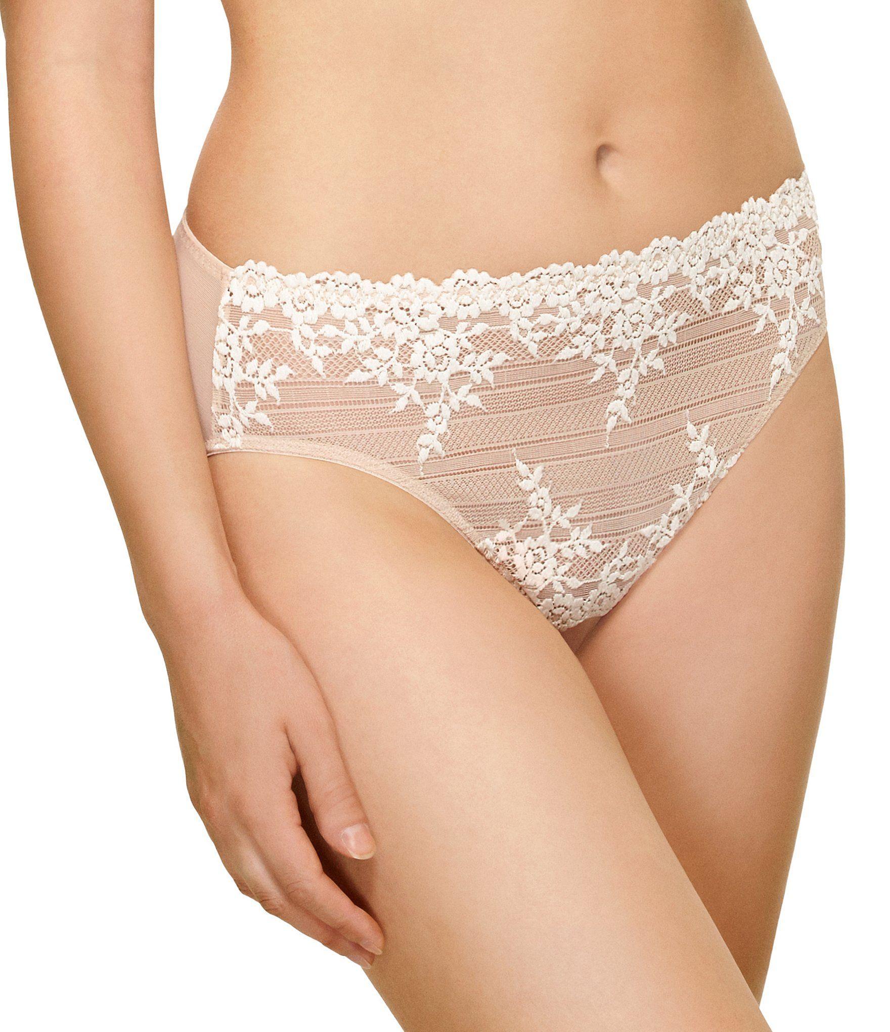 L XL M Black//White Wacoal Embrace Lace Hi-Cut Brief Size S