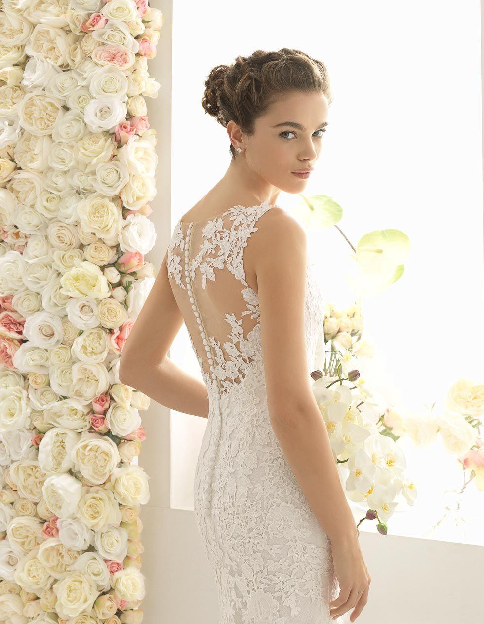 AIRE BARCELONA   Rücken, Brautkleid und Hochzeitskleider