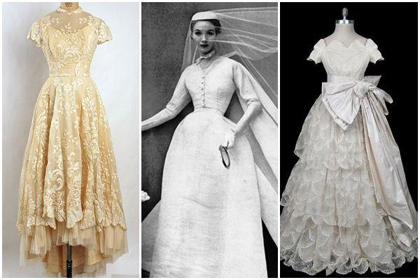 Wedding Dresses From The 1950s L R 1955 Wedding Dress 1952 Balenciaga Wedding Gown 1955 Wedding Dress By Pi Forever Fashion Wedding Dresses Elegant Fashion