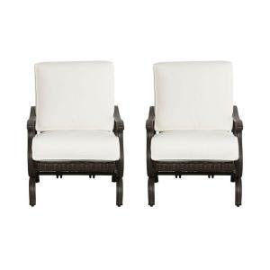 Hampton Bay Pembrey Patio Lounge Chair With Bare Cushion 2 Pack
