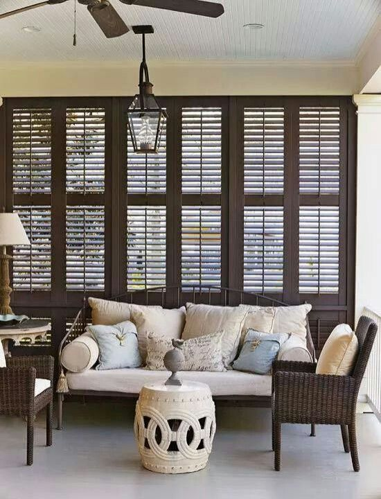 Porch New Orleans Style Love Plantation Shutters Feels