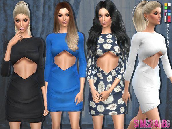 sims2fanbg's 83 - Open dress