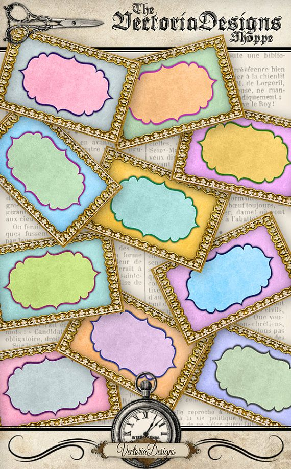 Printable Colorful Blank Labels printable / add your own