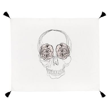 The Emily & Meritt Skull Tapestry
