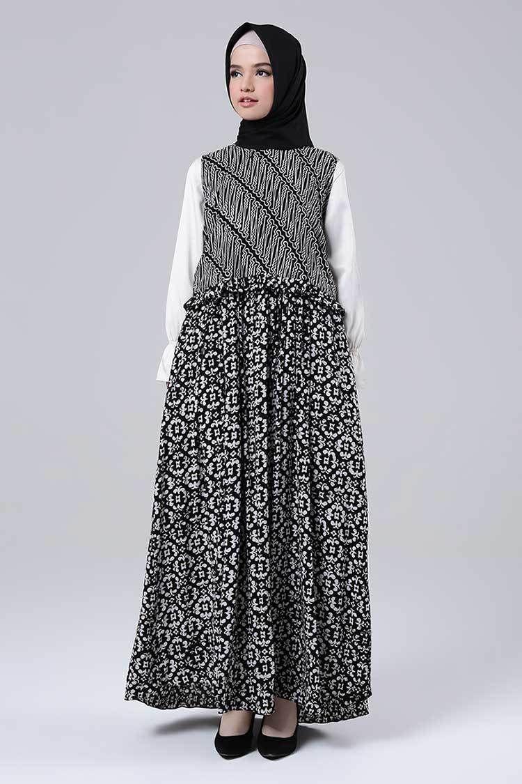 Model Gamis Batik Simple Tapi Mewah  Model pakaian, Wanita, Gaya