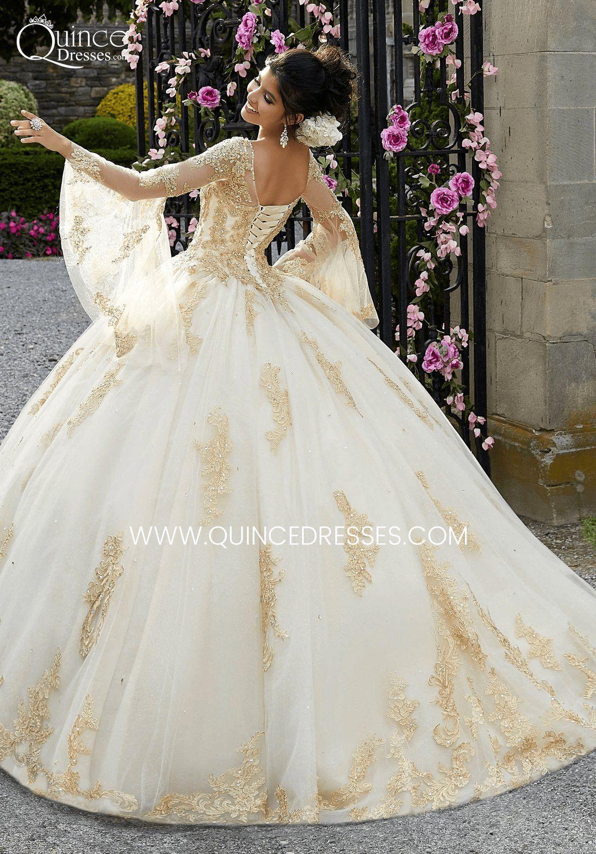 Valentina By Mori Lee 34021 Quinceanera Dress In 2021 Quinceanera Dresses Gold Quinceanera Dresses Ball Gowns Wedding [ 1721 x 1200 Pixel ]