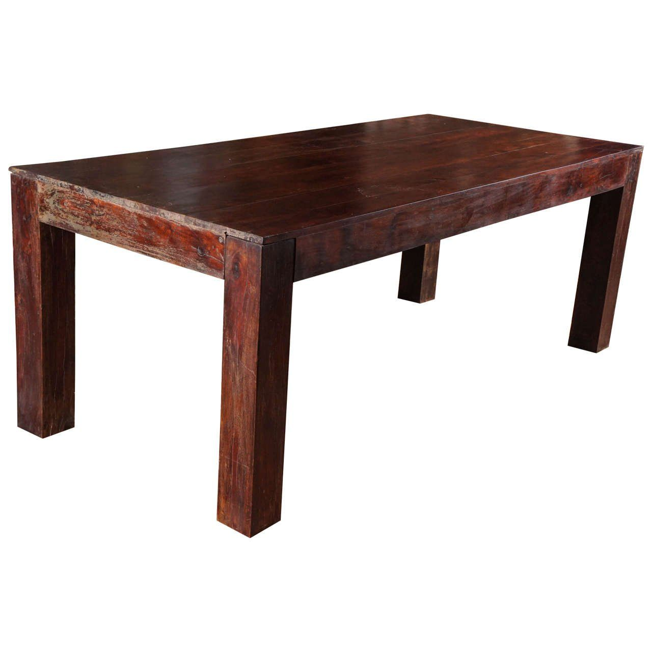 India Dining Table Sheesham Indian Rosewood Dining Table Ca 1950s