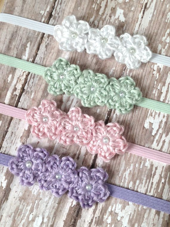 Newborn Headband Baby Girl Newborn Photo Prop by BabyGraceHats #babyheadbands