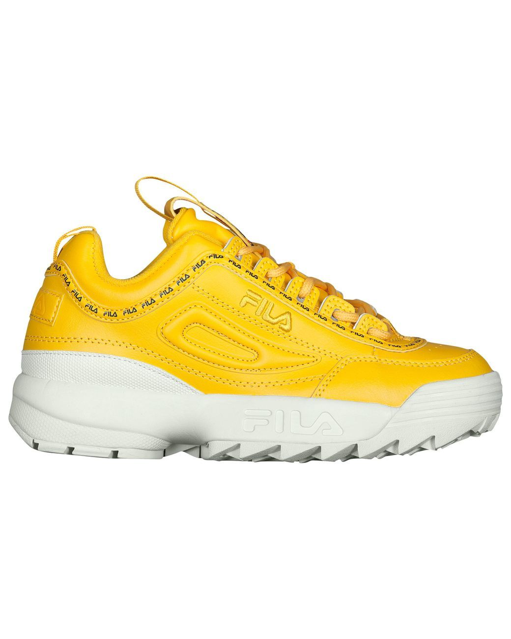 9f66c19c89 Women's Yellow Taped Logo Disruptor 2 Premium Sneakers in 2019 | I ...