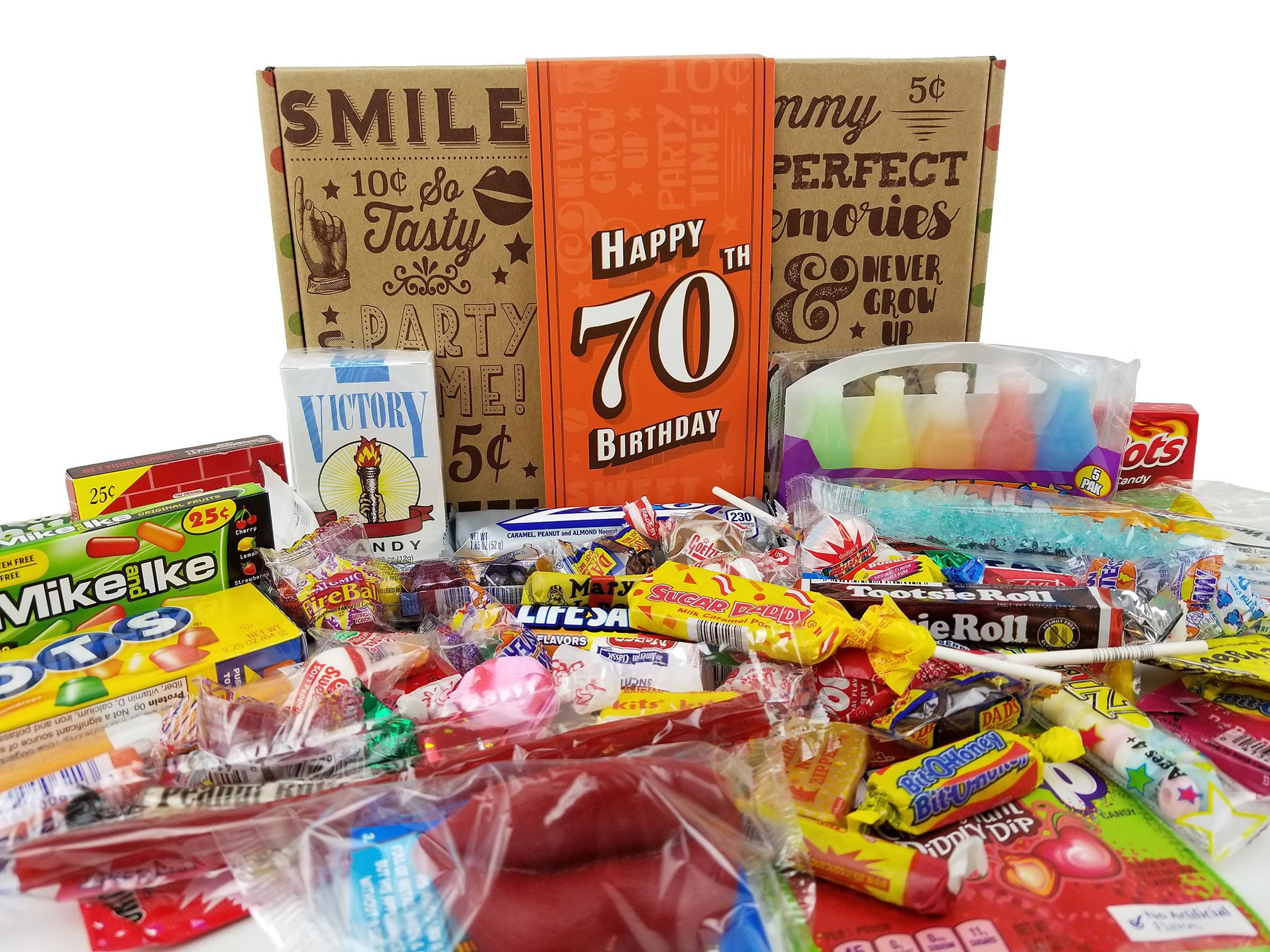 A Fun And Creative Way To Celebrate 70th Birthday Nostalgia Vintage Candy For Men Or Woman Turning 70 Years Old Check Us Out Over On Amazon