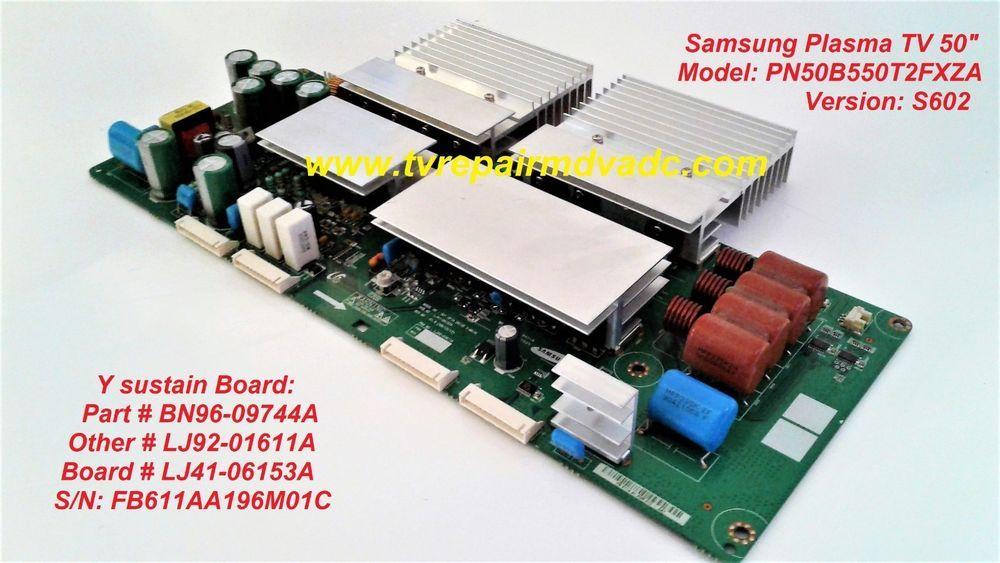 Details about Samsung PLASMA BN96-09744A (LJ92-01611A
