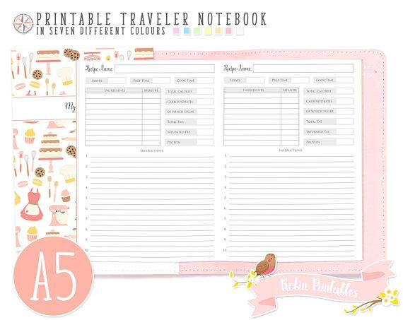 A5 my recipes traveler notebook refill printable tn pdf download a5 my recipes traveler notebook refill printable tn pdf download homemade food healthy eating forumfinder Gallery