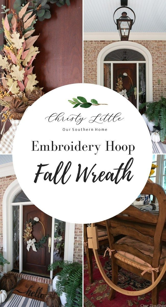 How to's : Thrift store makeover with an embroidery hoop! Make this wreath in no time using only wire, florals and ribbon. #fallwreath #thriftstore #wreath #embroideryhoop