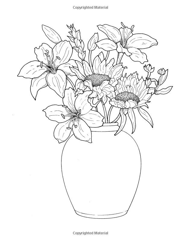Amazon Creative Haven Beautiful Flower Arrangements Coloring Book Adult