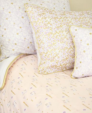Lilac and Gold Sparkle Duvet Cover
