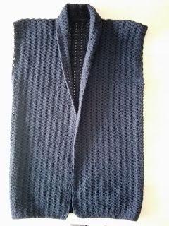 Fonkelnieuw Gehaakt mouwloos vestje met sjaalkraag | Mouwloos vest, Gehaakte VP-65