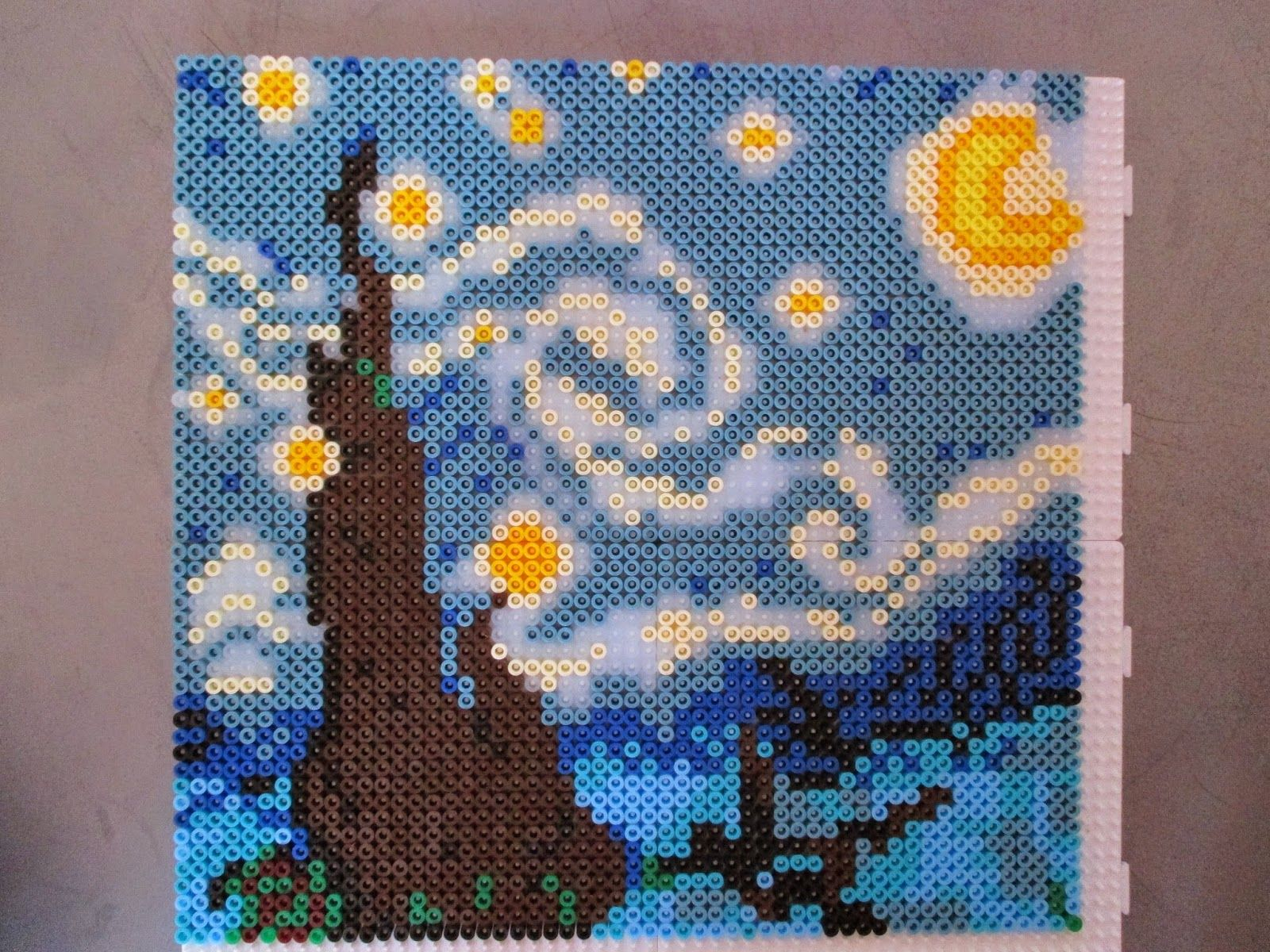 17 best images about starry night by vincent van gogh starry night by van gogh hama perler beads by sebastien herpin