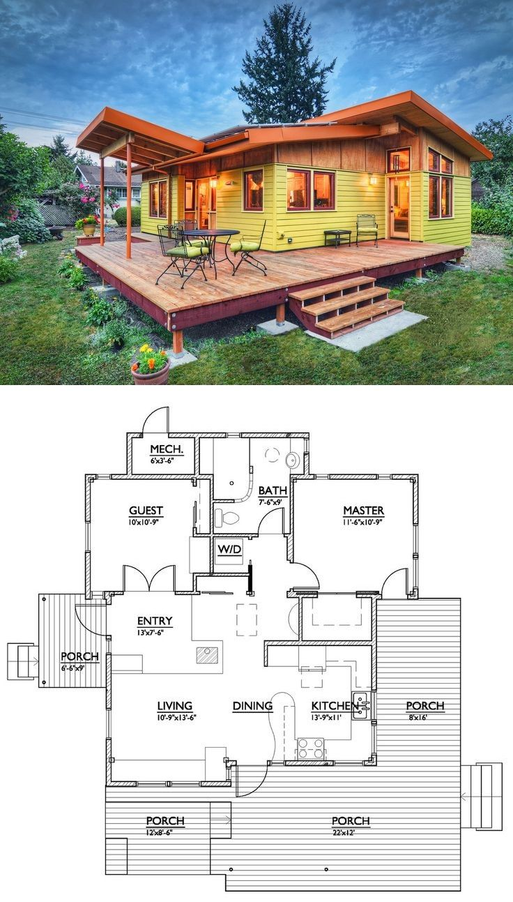 Modern Style House Plan 2 Beds 1 Baths 800 Sq Ft Plan 890 1 Modern Style House Plans Architecture House House Design