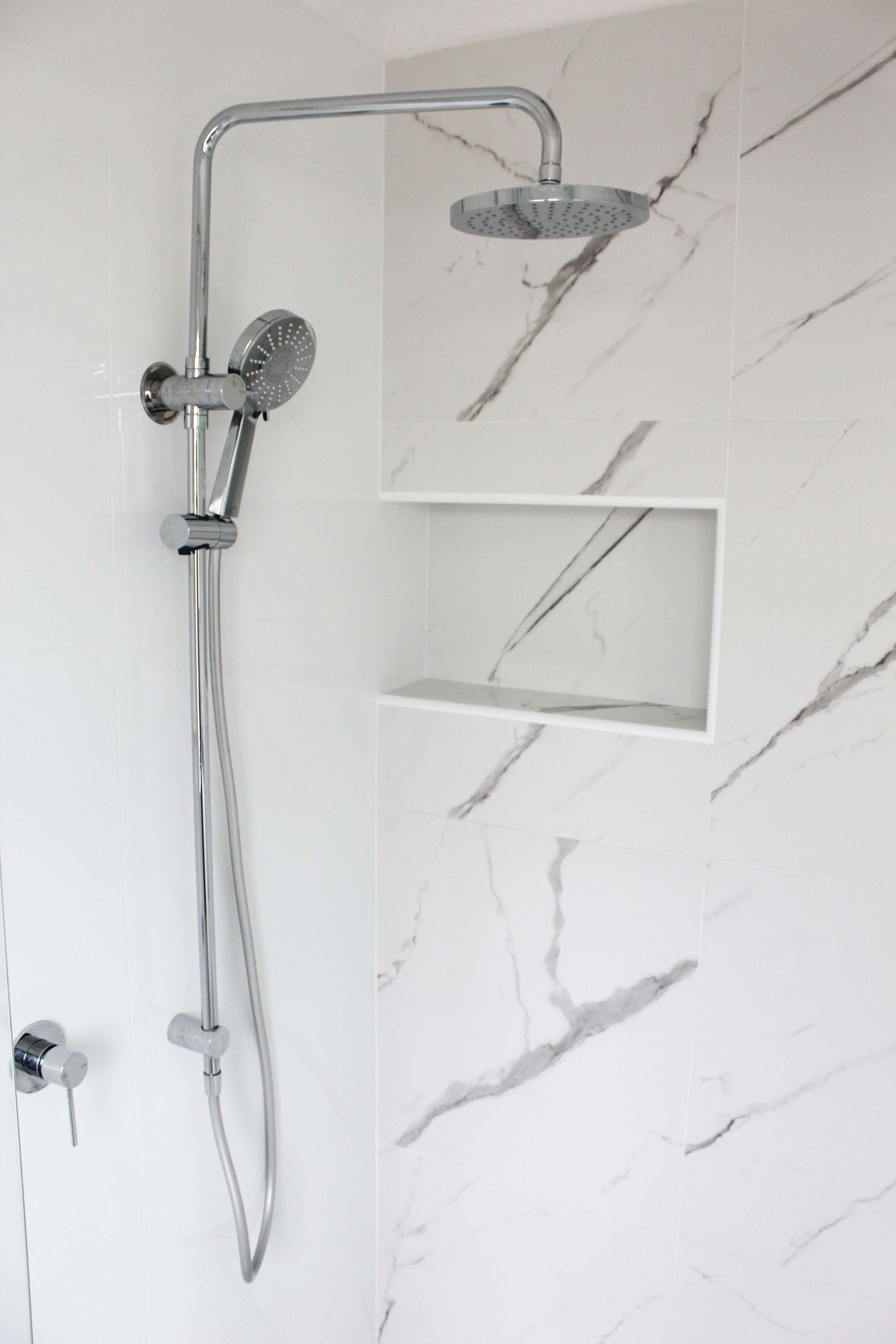 Carrara Tiles - Marble Tiles - Carrara Marble Bathrooms - Shower Box ...