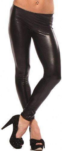 f07ac893e43 LATEX METALLIC LEGGINGS WET LOOK PUNK LEGGINGS SHINY FAUX LIQUID