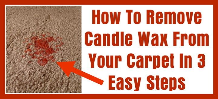How to remove candle wax from your carpet in 3 easy steps