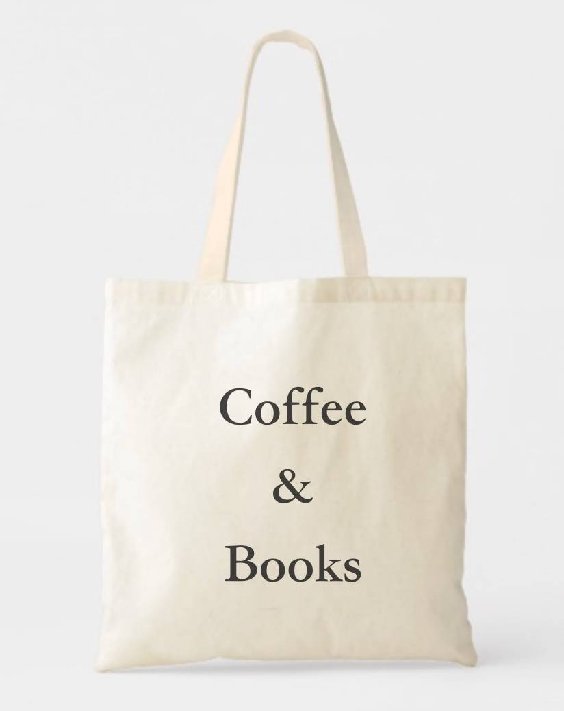 Book Tote Bag Book Totebag Typography Bag All You Need are Books and Coffee
