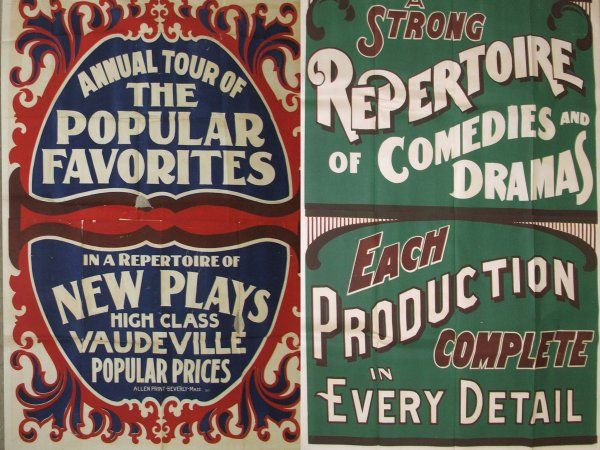 I love the typography on vintage, 1920s vaudeville posters like ...