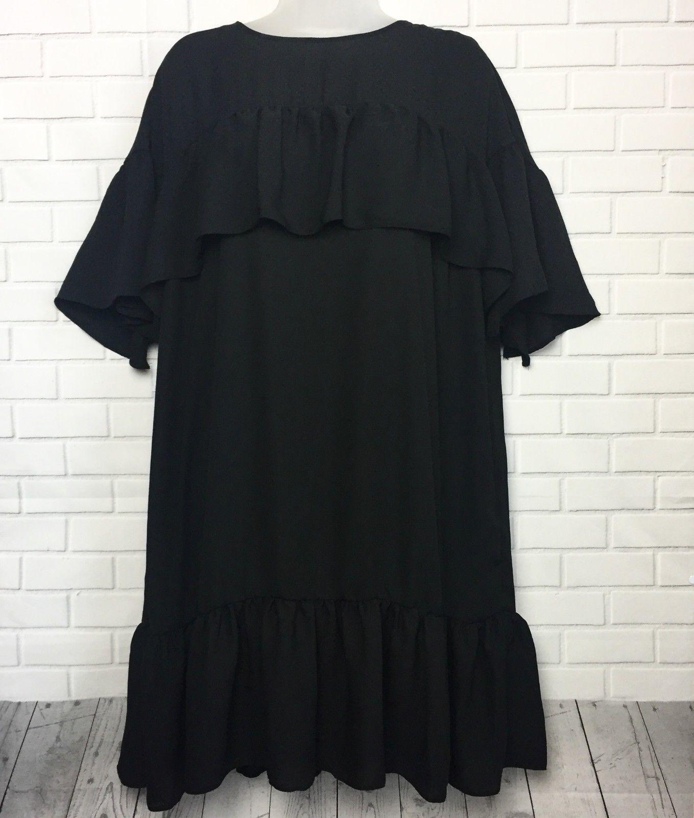 faaebaf5e1 27.95   NEW ASOS Women's Dress Size 12 Black 2-Piece Set Ruffled ...