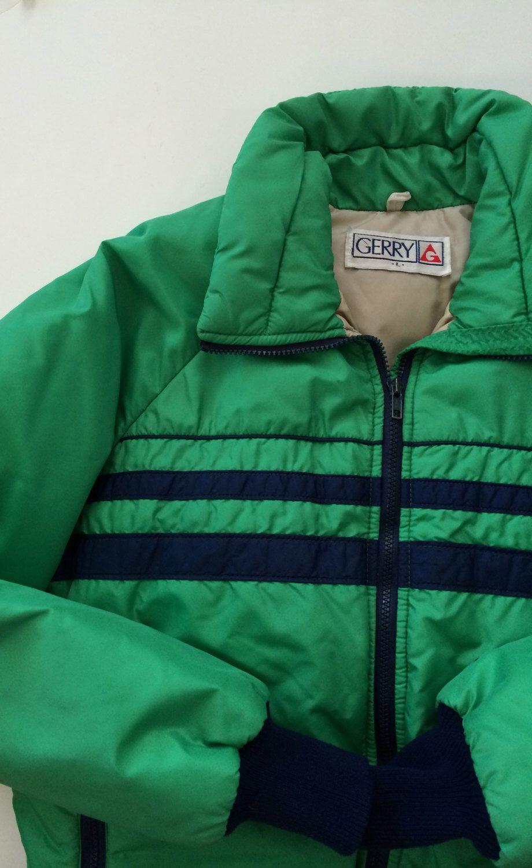 f43f355ba Vintage Ski Jacket by Gerry - Retro Downhill Ski in Kelly Green w ...
