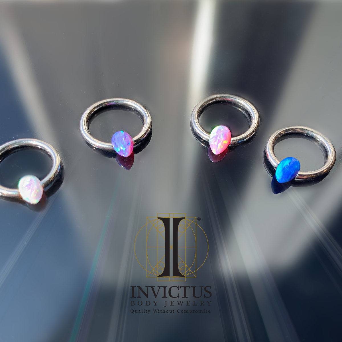 Available in white, lavender, pink, and blue - these are an exciting change to the traditional captive bead look.  . . . . #invictusjewelry #invictus #invictusbodyjewelry #jewelry #pierced #piercings #peoplewithpiercings #pierced #titanium #titaniumjewerly #gorgeous #14kgold #14kgoldjewerly #love #beautiful #threadlessjewelry #freshpiercing  #InvictusLove #interallythreadedjewelry #safepiercing #earrangement #bodyjewelry #sexy #sexypiercings #legitpiercings #safepiercing #follow #earproject