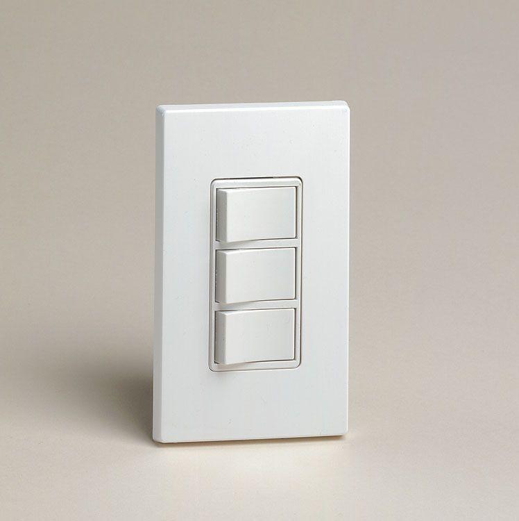 Triple Rocker Switch, White | Products | Bathroom fan light