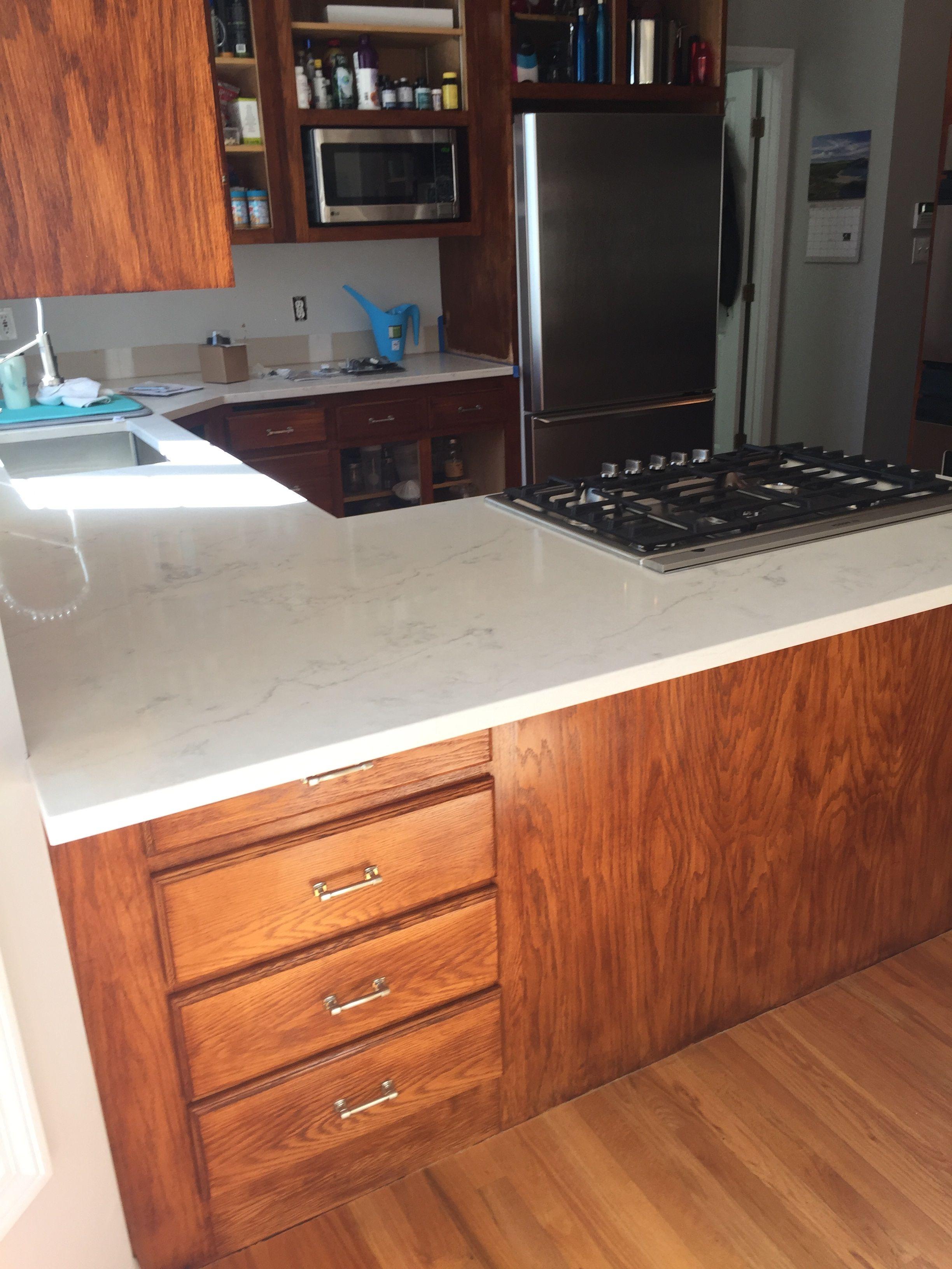 Organic White Quartz Master Nutmeg Gel Stain Cabinets Staining Cabinets Gel Staining Cabinets Kitchen