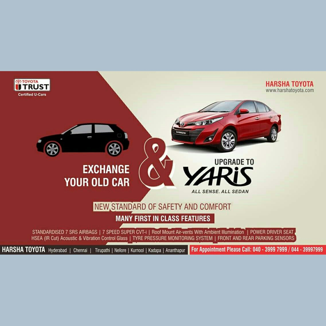 Exchange your car with all new premium and Luxury Toyota