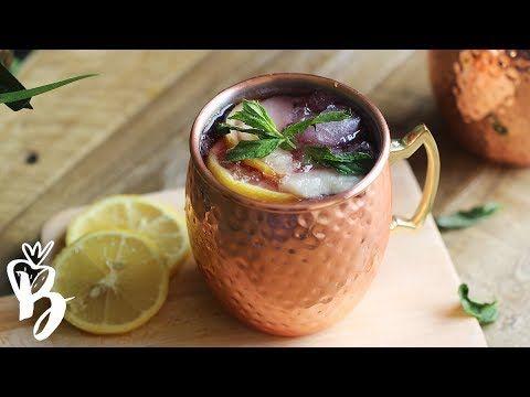 موهيتو الفراولة المنعش مشروبات الصيف Strawberry Mojito Youtube Moscow Mule Mugs Tableware Glassware