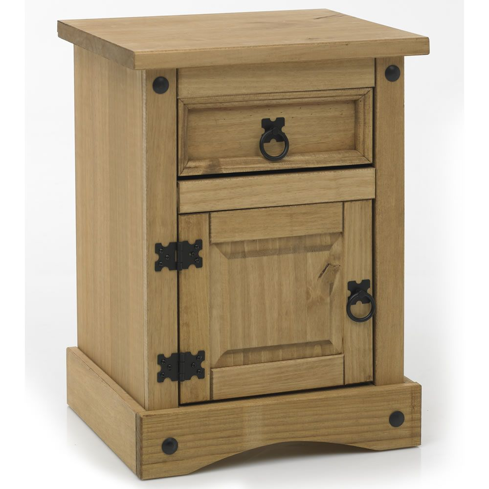 Monterrey Mexican Style Solid Pine Bedside Cabinet