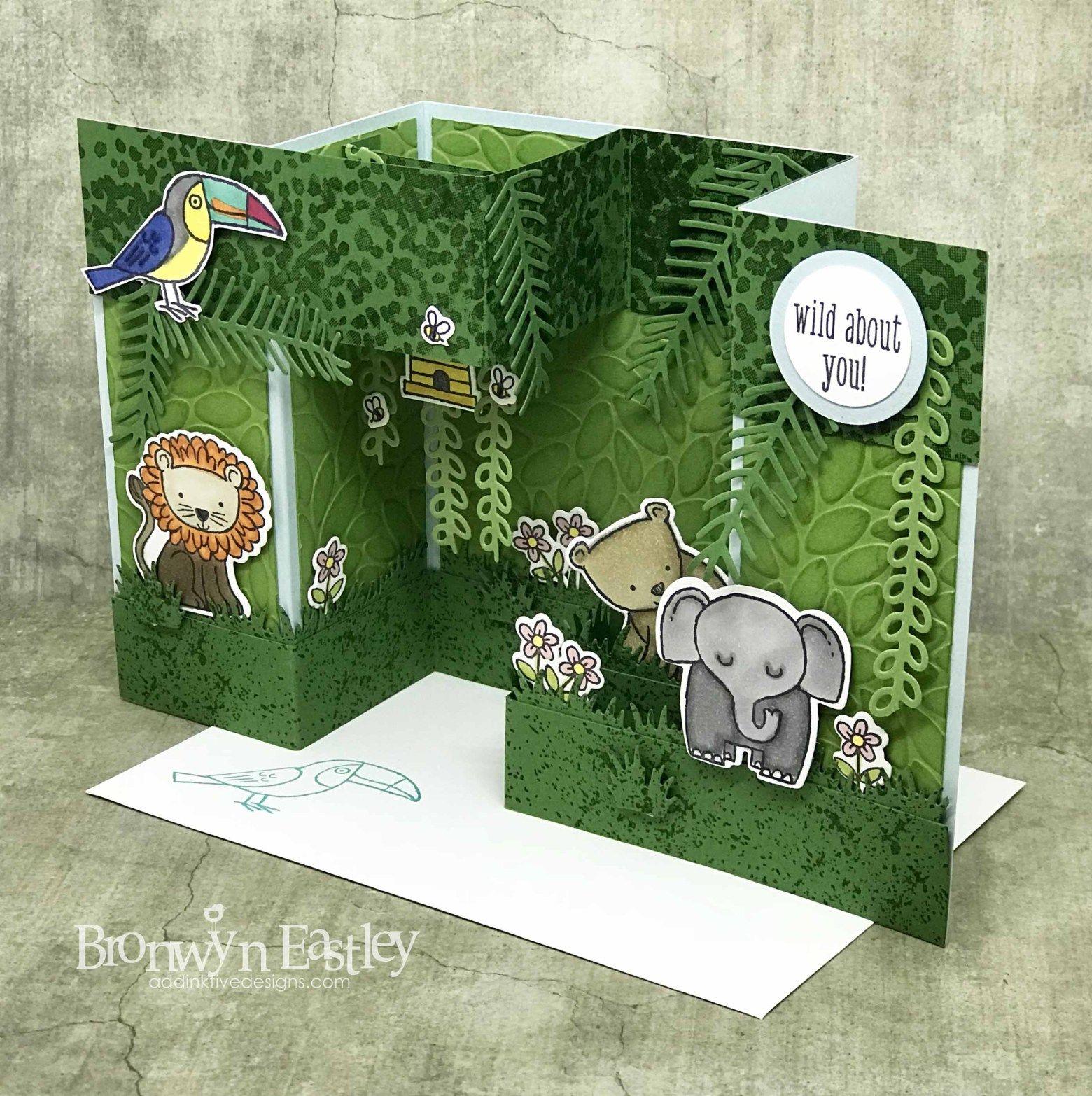 A Little Wild Double Pop Up Gate Fold Box Card Tutorial Box Cards Tutorial Fancy Fold Card Tutorials Folded Cards