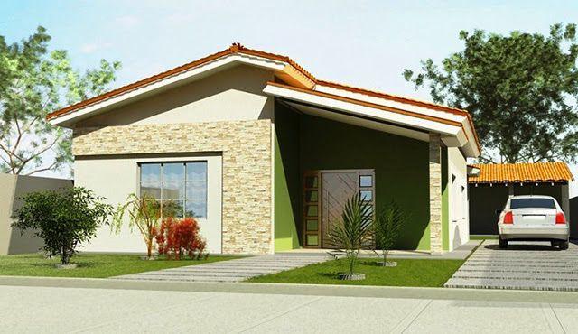 Fachadas de Casas Simples, Bonitas e Pequenas! casas Pinterest