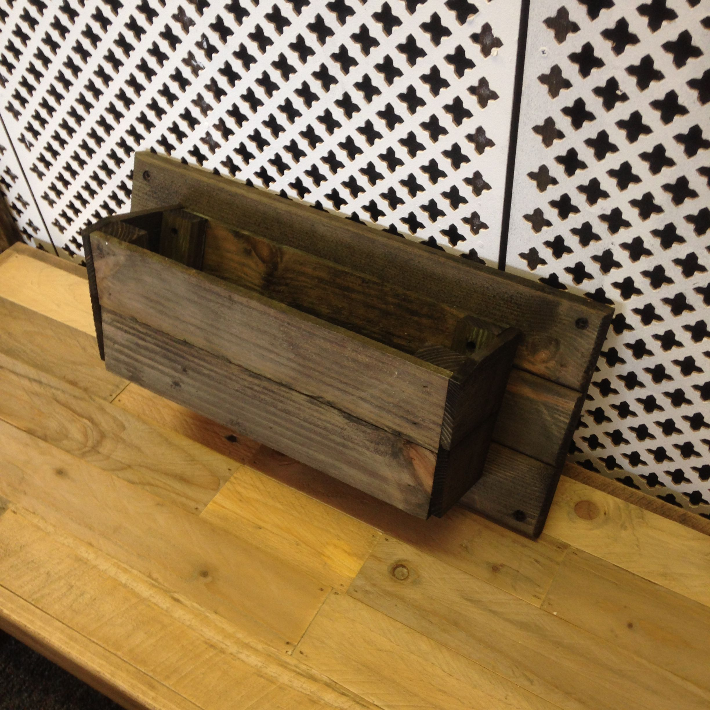 Handmade Rustic Wooden Pine Single Wall Planter Perfect for Herbs / Flowers, £19.99